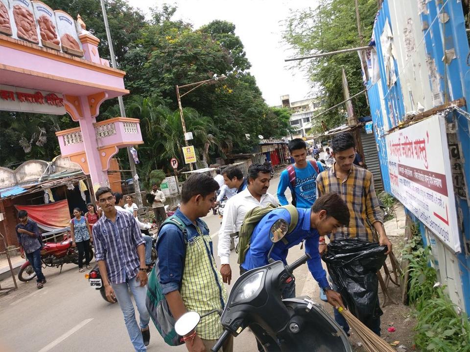 Morya Gosavi Mandir, Chinchwad Cleanliness campaign